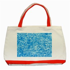Blue Ice Crystals Classic Tote Bag (red)  by trendistuff