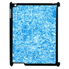 Blue Ice Crystals Apple Ipad 2 Case (black) by trendistuff