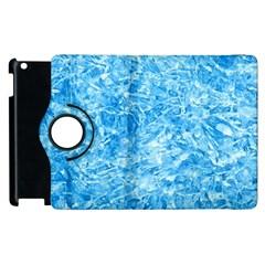 Blue Ice Crystals Apple Ipad 3/4 Flip 360 Case by trendistuff