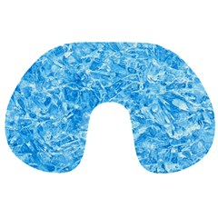 Blue Ice Crystals Travel Neck Pillows by trendistuff