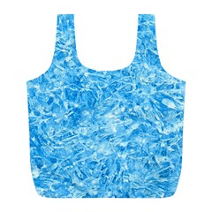 Blue Ice Crystals Full Print Recycle Bags (l)  by trendistuff