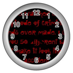 I ve Watched Enough Criminal Minds Wall Clocks (silver)  by girlwhowaitedfanstore