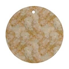 Tan Marble Ornament (round)  by trendistuff