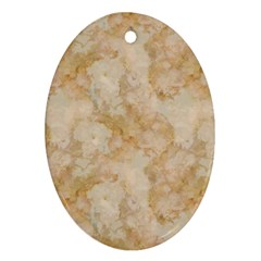 Tan Marble Ornament (oval)  by trendistuff