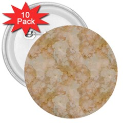 Tan Marble 3  Buttons (10 Pack)  by trendistuff
