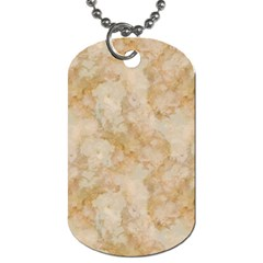 Tan Marble Dog Tag (one Side) by trendistuff