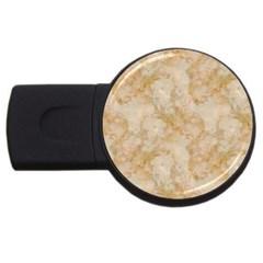 Tan Marble Usb Flash Drive Round (2 Gb)  by trendistuff