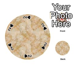 Tan Marble Playing Cards 54 (round)