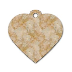 Tan Marble Dog Tag Heart (two Sides) by trendistuff