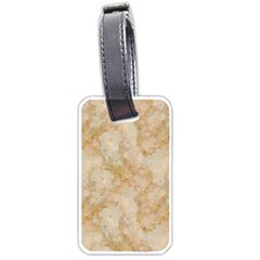 Tan Marble Luggage Tags (one Side)  by trendistuff