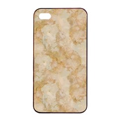 Tan Marble Apple Iphone 4/4s Seamless Case (black) by trendistuff