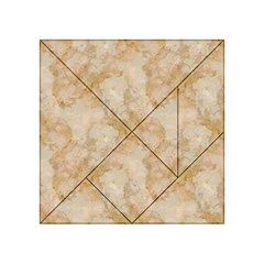 Tan Marble Acrylic Tangram Puzzle (4  X 4 ) by trendistuff