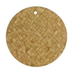 Tan Diamond Brick Ornament (round)  by trendistuff