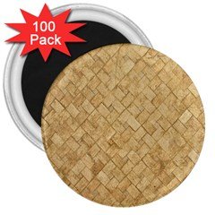 Tan Diamond Brick 3  Magnets (100 Pack) by trendistuff