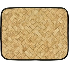 Tan Diamond Brick Double Sided Fleece Blanket (mini)  by trendistuff