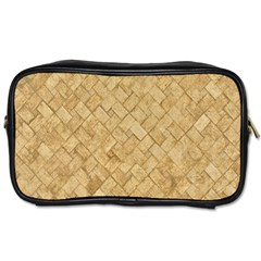 Tan Diamond Brick Toiletries Bags 2 Side by trendistuff