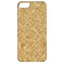 Tan Diamond Brick Apple Iphone 5 Classic Hardshell Case by trendistuff