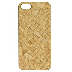 Tan Diamond Brick Apple Iphone 5 Hardshell Case With Stand by trendistuff