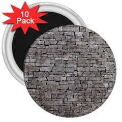 Stone Wall Grey 3  Magnets (10 Pack)  by trendistuff