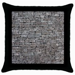 Stone Wall Grey Throw Pillow Cases (black) by trendistuff