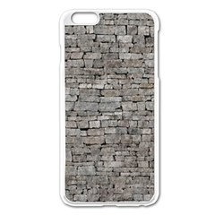 STONE WALL GREY Apple iPhone 6 Plus/6S Plus Enamel White Case by trendistuff