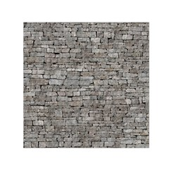 Stone Wall Grey Small Satin Scarf (square)  by trendistuff