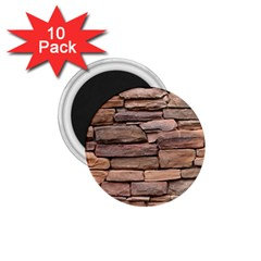 Stone Wall Brown 1 75  Magnets (10 Pack)  by trendistuff