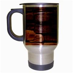 Stone Wall Brown Travel Mug (silver Gray) by trendistuff