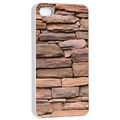 Stone Wall Brown Apple Iphone 4/4s Seamless Case (white) by trendistuff