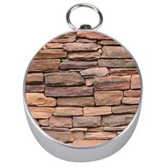 Stone Wall Brown Silver Compasses by trendistuff