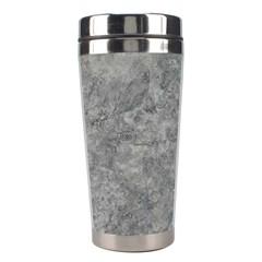 Silver Travertine Stainless Steel Travel Tumblers by trendistuff