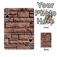 Sandstone Brick Playing Cards 54 Designs  by trendistuff