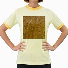 Sandstone Women s Fitted Ringer T Shirts by trendistuff