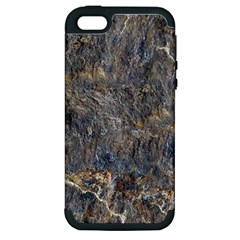 Rusty Stone Apple Iphone 5 Hardshell Case (pc+silicone) by trendistuff