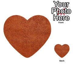 Rust Colored Stucco Multi Purpose Cards (heart)