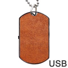 Rust Colored Stucco Dog Tag Usb Flash (one Side) by trendistuff