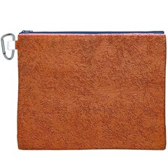 Rust Colored Stucco Canvas Cosmetic Bag (xxxl)  by trendistuff