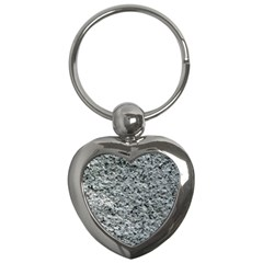 ROUGH GREY STONE Key Chains (Heart)  by trendistuff