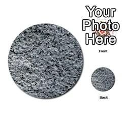 Rough Grey Stone Multi Purpose Cards (round)