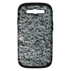 ROUGH GREY STONE Samsung Galaxy S III Hardshell Case (PC+Silicone) by trendistuff