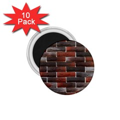 RED AND BLACK BRICK WALL 1.75  Magnets (10 pack)  by trendistuff