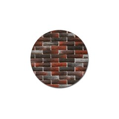 Red And Black Brick Wall Golf Ball Marker (10 Pack) by trendistuff