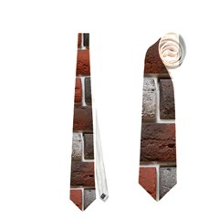 Red And Black Brick Wall Neckties (two Side)
