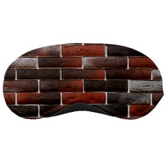 Red And Black Brick Wall Sleeping Masks by trendistuff