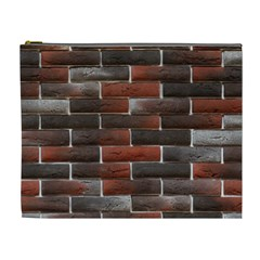 Red And Black Brick Wall Cosmetic Bag (xl) by trendistuff