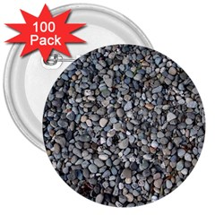Pebble Beach 3  Buttons (100 Pack)  by trendistuff