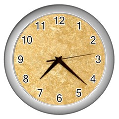 Noce Travertine Wall Clocks (silver)  by trendistuff
