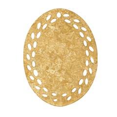 Noce Travertine Oval Filigree Ornament (2 Side)  by trendistuff