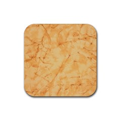 Marble Light Tan Rubber Coaster (square)  by trendistuff