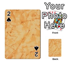 Marble Light Tan Playing Cards 54 Designs